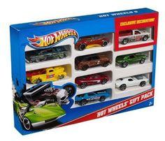 Hot Wheels 9-Car Gift Pack Die Cast Trucks Cars Vehicles Kid Pretend Play Games #HotWheels