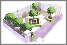 Formal design for a small front town garden