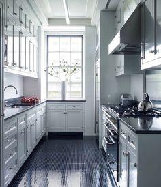 Tasteful cabinetry + spectacular floor