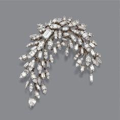 Diamond spray brooch