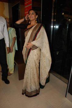 Vidya Balan Saree | vidya balan photo next vidya balan photo vidya balan saree pics vidya ...