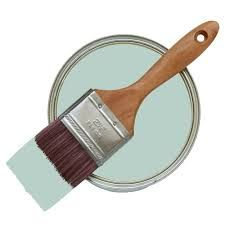 Laura Ashley Water Based Paint, Duck Egg, we settled on this colour for the walls, looks super, very elegant Duck Egg Blue Paint, Duck Egg Blue Bedroom, Laura Ashley Paint, Ashley Blue, Childrens Room Decor, Colour Schemes, Colour Palettes, Color Combos, Soft Furnishings