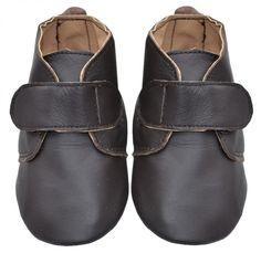 Babysko | skinntøfler til barn med borrelås | leather shoes for babies and kids