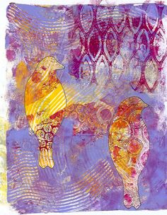 Gelli Print by Ginny Markley - excellent tutorial with many techniques and tips (lw)