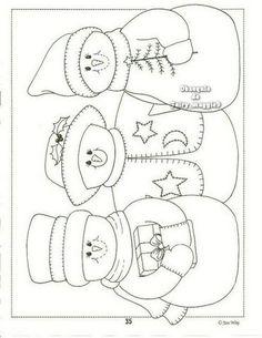 idea, christmas embroidery patterns, craft, quilt, coloring snowmen, coloriag enfant, snowman, appliqu, embroideri