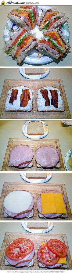 "Classic Turkey Club Sandwich! 5.00 stars, 4 reviews. ""A classic club sandwich."" @allthecooks #recipe"