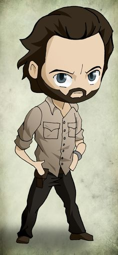 Chibi Art The Walking Dead: Rick by issue53.deviantart.com on @deviantART
