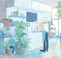 19번째 이미지 Aesthetic Anime, Aesthetic Art, Anime Scenery, Cartoon Art, Cartoon Illustrations, Cute Illustration, Cute Drawings, Cute Art, Art Inspo