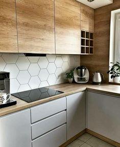 Kitchen Room Design, Home Room Design, Modern Kitchen Design, Home Decor Kitchen, Interior Design Kitchen, Kitchen Furniture, Home Kitchens, Modern Kitchen Cabinets, Grey Cabinets
