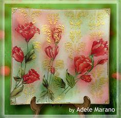 decoupage classico e sfumature pittoriche con pigmenti
