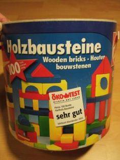Holzbausteine Heros bunt Bausteine Bauklötze Öko test sehr gut in Königstein / Sächsische Schweiz