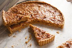 Onion Tart - A mountain of golden-brown caramelized onions makes this tart unforgettable.