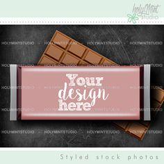 Candy Bar Wrapper by www.HolyMintStudio.Etsy.com