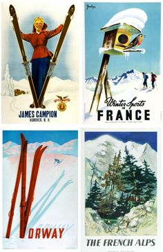 vintage ski advertisments