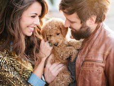 this entire shoot is just so cute and the light in it is magical. i want a golden doodle!