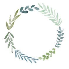 Free floral doodle watercolor aquarel wreath, flower wreath