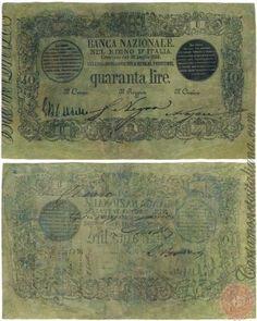 40 LIRE -  1866