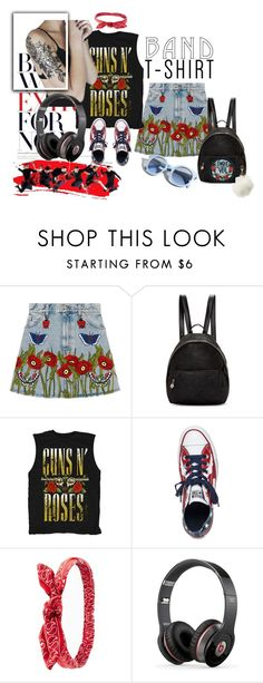 """""""CRIME"""" by shormi ❤ liked on Polyvore featuring Gucci, STELLA McCARTNEY, Converse, Charlotte Russe, Beats by Dr. Dre, Pinko, bandtshirt and bandtee"""