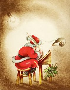 I like the hidden face of Santa....allowing the mystery to live....we never saw Santa when we were children....not the real Santa...and the mystery about who this man was and why he did what he did...and how he managed to carry it off...I like hidden faces in art.