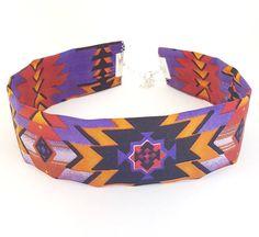 Handmade Aztec Cotton Fabric Choker/ Fabric Choker/ Statement
