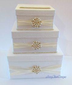 Items similar to Wedding Card Box, Bling Card Box, Money Holder, Wedding Money Box - Custom Made on Etsy Diy Card Box, Wedding Gift Card Box, Money Box Wedding, Gift Card Boxes, Unique Wedding Gifts, Wedding Boxes, Wedding Cards, Card Holder, Trendy Wedding