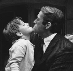 Gregory Peck and his son on the set of To Kill A Mockingbird, 1961.
