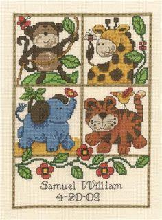 Stamped Needlepoint Printed Pattern Kits for Home Decor 12.9x 12.9 DIY Colorfol Animal Cross-Stitching Sewing Embroidery Cross Stitch Kits Unicorn