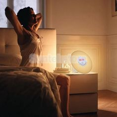 Wake-Up Light Sunrise Alarm Clock Led Fm Radio Sounds Night Colorful Lamp #1