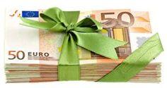 Деньги Купюры Евро Бантик 50
