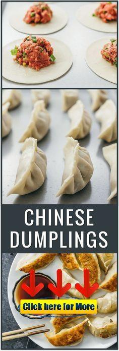 (Easy) Slow Cooker Huhn und Knödel - food to coock - How To Cook Dumplings, Best Chicken And Dumplings, Beef Dumplings, Chinese Dumplings, Dumpling Filling, Dumpling Recipe, Potstickers Pork, Slow Cooker Huhn, Rind