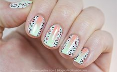 Summer Gradient - Neon and Leopard Print Nail Art with Tutorial for Divine Caroline