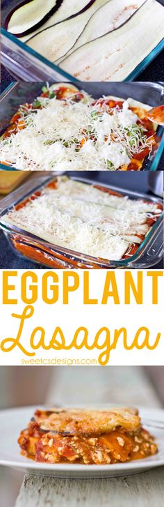 Gluten and Grain Free Eggplant Lasagne- this is a delicious, filling dish that i., and Grain Free Eggplant Lasagne- this is a delicious, filling dish that is so packed with veggies you won& notice there is no pasta! Healthy Cooking, Healthy Eating, Cooking Recipes, Veggie Dishes, Vegetable Recipes, Carb Free, Vegetarian Recipes, Healthy Recipes, Italian Recipes