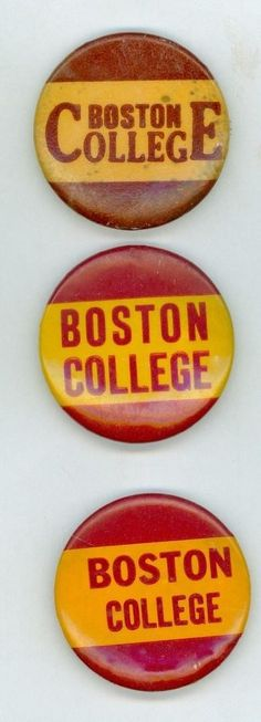 3 Vintage 1940s Boston College Football Booster Pinback Buttons | #1759095494