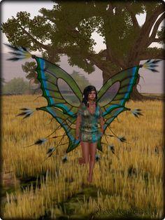 Faeline Fairy Wings - Riko (emerald)