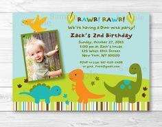Dinosaur Birthday Invitation PRINTABLE by LittlePrintsParties