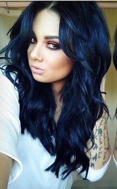 Haare Schwarz Blau Färben Haare Bunt Färben Ohne Sie