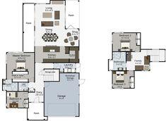 Patiki 4 bedroom 2 storey house plan Landmark Homes builders NZ Garage Bedroom, 2 Storey House, Walk In Robe, New Home Builders, Modern House Design, Building A House, Master Bedroom, House Plans, New Homes
