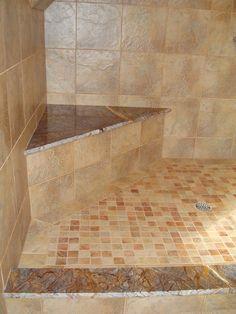 Shower color bench walk in showe seat