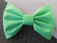 Mint Hair Bow Girls Hairbow Fabric Hair Bow by TitasHidingPlace, $3.75
