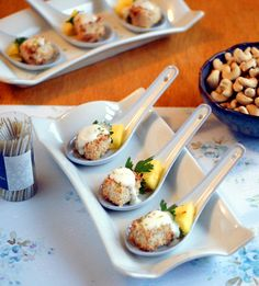 Coconut Crusted Tofu Appetizer Bites with Creamy Green Curry Dipping Sauce - Vegan