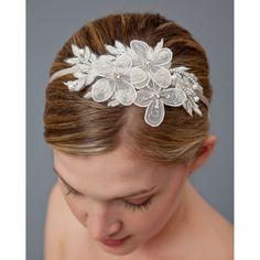 Nina Bridal Dabney Beaded Floral Headband - Ivory