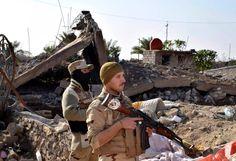 Kämpfer im Norden der Stadt: Eine solche versteckte Bombe hat nach...