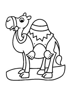 Coloring Camel For Little Children Pages Free Printable Colori With Kids