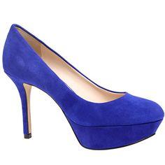 The Nine West blue suede Mendoza platform pump! #cobalt Shop @Nine West Scarborough Town Centre. #shoes