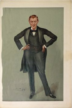 """This legendary caricature appeared in British Vanity Fair on September 27, 1900, just after Churchill's return to England following his headline-making escape from the Boers, and just before his first General Election victory as the Conservative Candidate for Oldham. Drawn by Leslie Ward (who signed his work as 'Spy'), the caricature ran as part of a profile headlined: 'Men of the Day,' written by Vanity Fair's founder, Thomas Gibson Bowles."