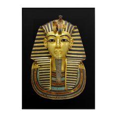 Ancient Egyptian Pharaoh Tutankhamun Gold Mask Acrylic Wall Art - cyo diy customize unique design gift idea