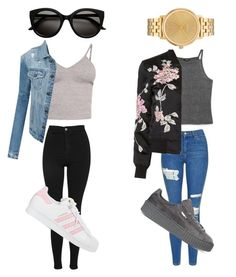 """""""Untitled #66"""" by daisyhuijer on Polyvore featuring BasicGrey, Topshop, LE3NO, Monki, 3x1, Puma, adidas and Nixon"""