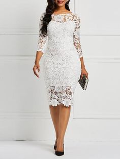 Product Name:African Fashion Three-Quarter Sleeve Sexy Floral Women's Lace Dress Category:Women/Women's Clothing/Women Dresses/Lace Dresses Material:L Lace Dress Styles, African Lace Dresses, Latest African Fashion Dresses, Women's Fashion Dresses, Women's Dresses, Dress Outfits, Casual Dresses, Nigerian Lace Dress, Wedding Dresses