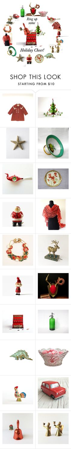 """Ring in the Holidays!"" by vintagefrenchlinens ❤ liked on Polyvore featuring interior, interiors, interior design, home, home decor, interior decorating, Olsson, Corgi and vintage"