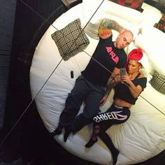 Eva Marie & Jonathan Natalie Eva Marie, Workouts, Couples, Amazing, Fitness, Couple, Work Outs, Excercise, Workout Exercises
